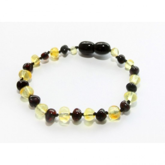 Baltic amber baby teething anklet bracelet