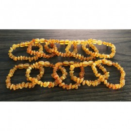 Lot of 10 raw baltic amber anklets bracelets.