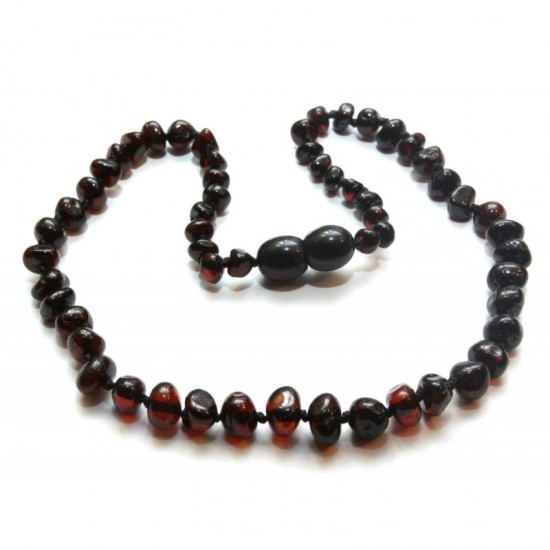 Baby teething baltic amber necklace. Cherry