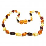 Baltic amber baby teething necklace.