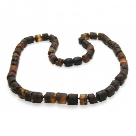 Raw baltic amber necklace for child. 5+