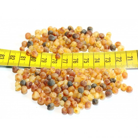 Raw baltic amber baroque beads. 20g