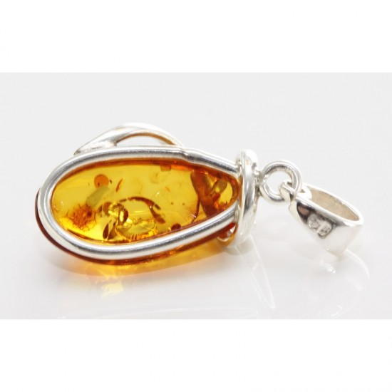 Amber24 baltic amber pendant baltic amber and sterling silver pendant aloadofball Gallery