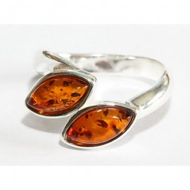 Baltic amber silver 925 ring. 7