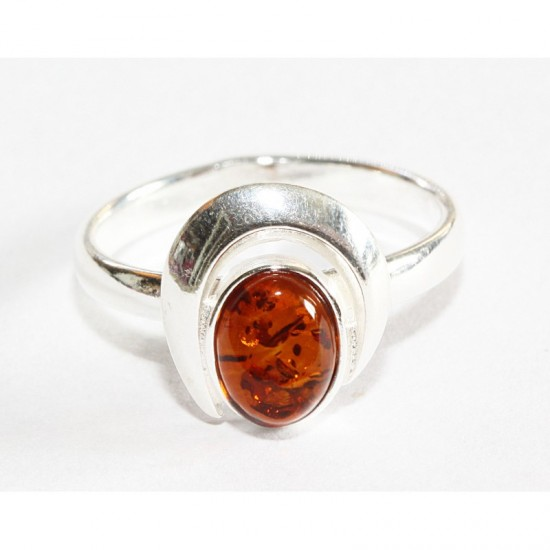 Baltic amber silver 925 ring. 6.75