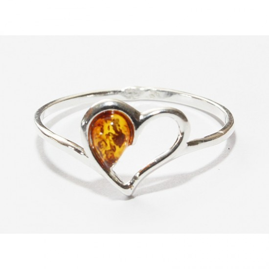Baltic amber sterling silver 925 ring. 10.5
