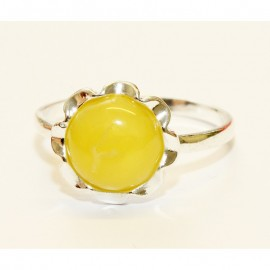 Baltic amber silver 925 ring. 9