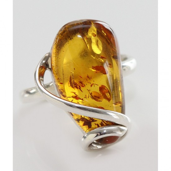 Amber24 Com Baltic Amber And Sterling Silver Ring