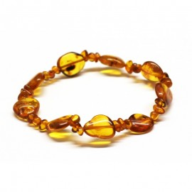 Baltic amber beads stretch bracelet