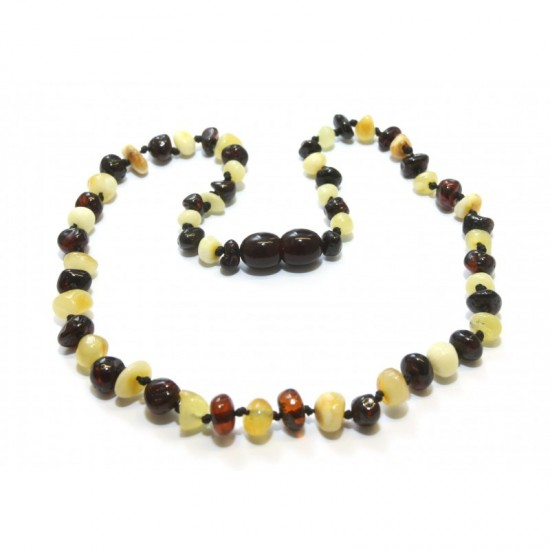 Baltic amber baby teething necklace