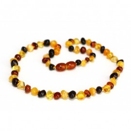 Baltic amber baby teething necklace.5+