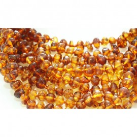 Wholesale lot of 10 baby teething baltic amber necklaces