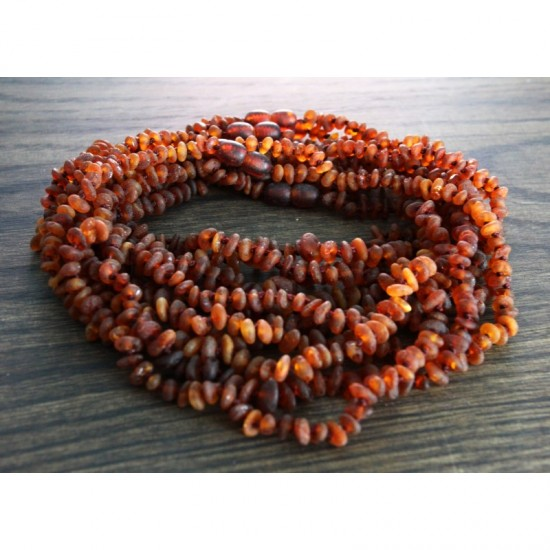 Wholesale lot of 10 baby teething raw baltic amber necklaces.