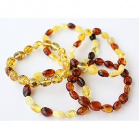 Lot of 5 baltic amber stretch bracelets