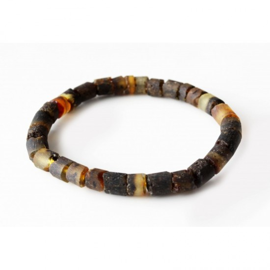 Raw baltic amber stretch bracelet