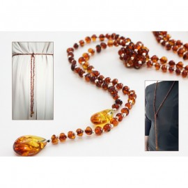 Baltic amber beads necklace or chain belt