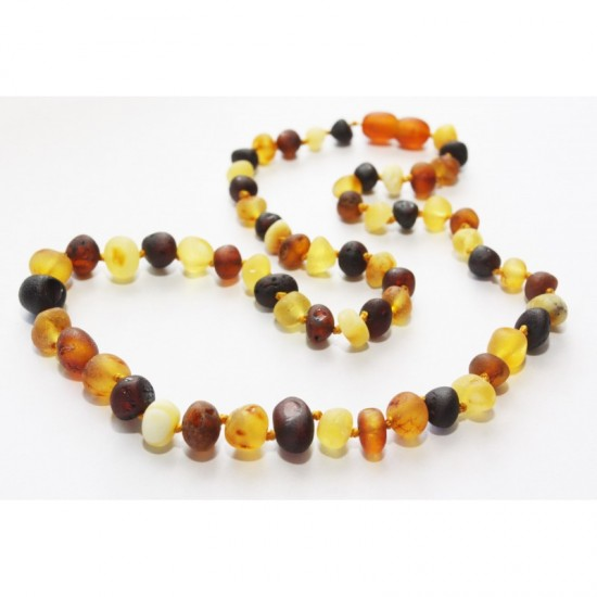 Raw baltic amber beads necklace