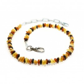Raw baltic amber necklace/collar for dog. Anti-tick Anti-flea