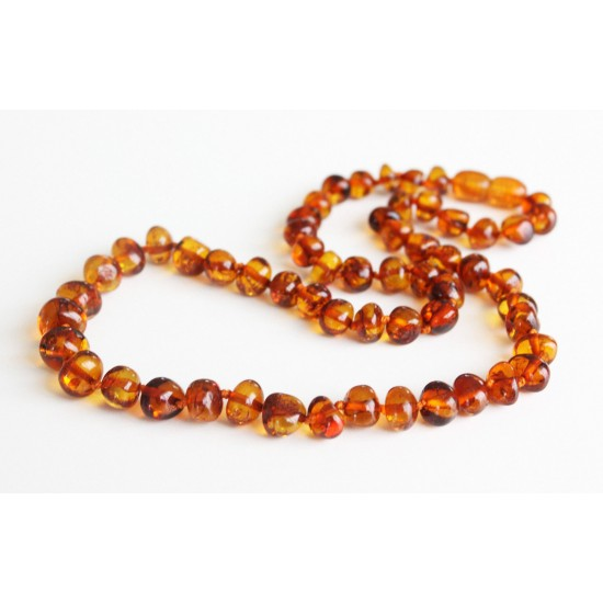 Baltic amber beads necklace