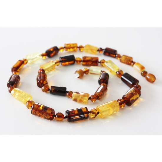 Baltic amber necklace.Perfect for men!