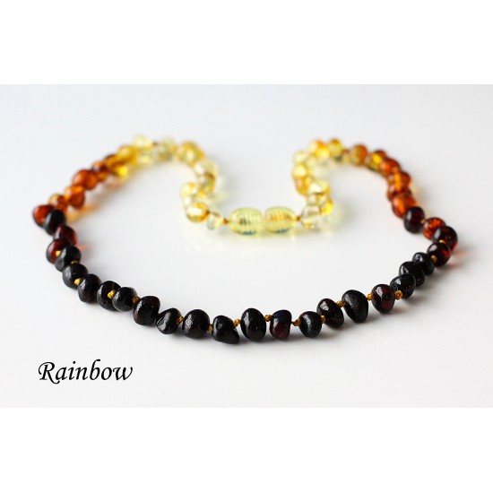 """Baltic amber necklace for kids. 37-38 cm/14.5-14.9"""""""