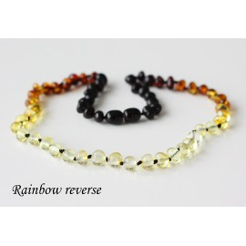 Baltic amber necklace for kids.  37-38 cm/14.5-14.9""