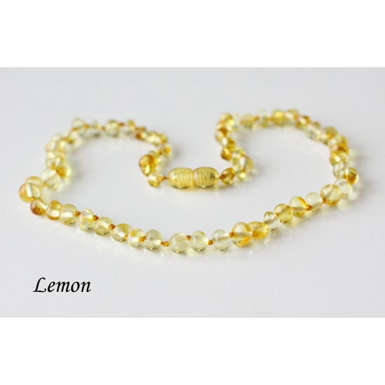 Baltic amber necklace for kids. 38-39 cm/14.9-15.3""