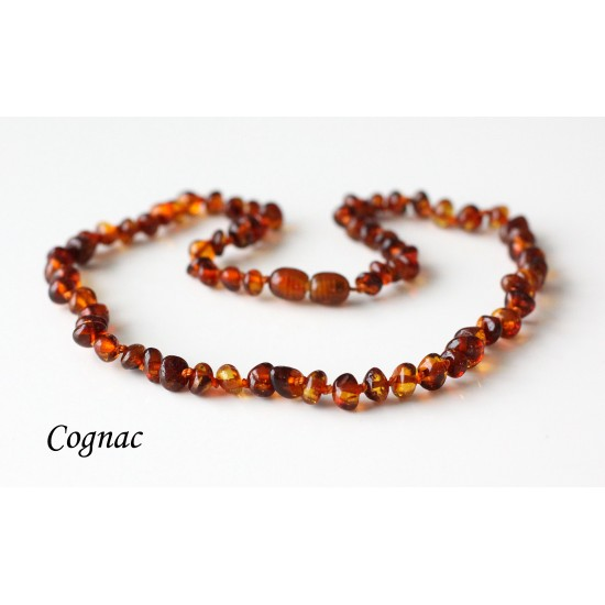 Baltic amber necklace for kids. ~41-42 cm/16.1-16.5""