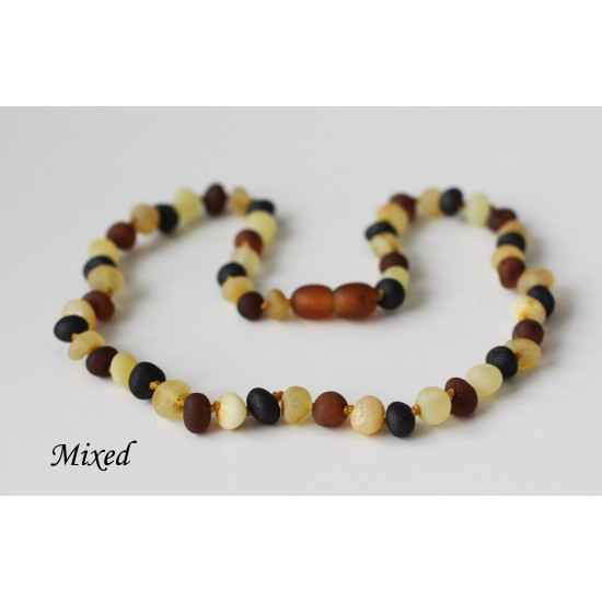"""Raw baltic amber necklace for kids.  37-38 cm/14.5-14.9"""""""