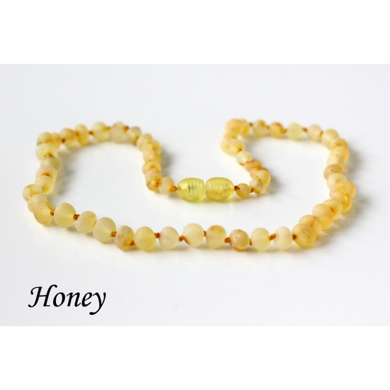 Raw baltic amber necklace for kids.  37-38 cm/14.5-14.9""