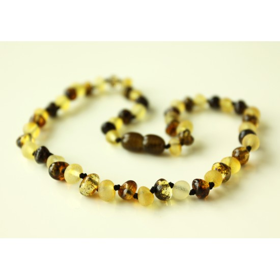 Raw/polished baltic amber baby teething necklace