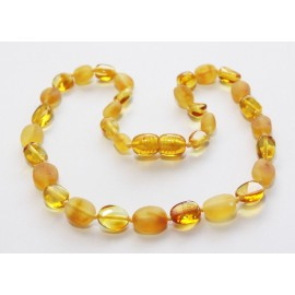 Raw/polished baltic amber baby teething necklace.