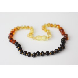 Baltic amber baby teething necklace. 28-29cm/11-11.4""