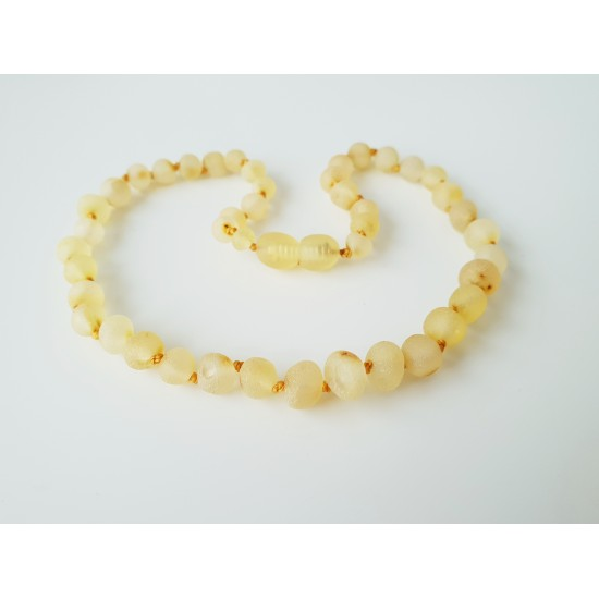 Raw baltic amber teething necklace.